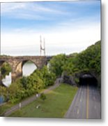 The Kelly Drive Rock Tunnel Metal Print by Bill Cannon
