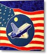 The Last Space Shuttle Metal Print by Bill Hubbard