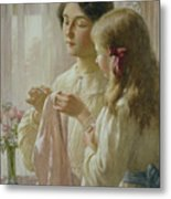 The Lesson Metal Print by William Kay Blacklock