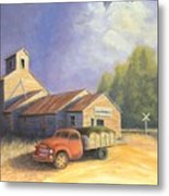 The Lisco Elevator Metal Print by Jerry McElroy