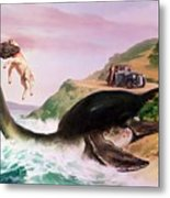 The Loch Ness Monster Metal Print by Gino DAchille