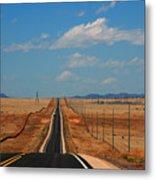 The Long Road To Santa Fe Metal Print by Susanne Van Hulst
