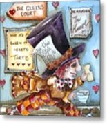 The Mad Hatter - In Court Metal Print by Lucia Stewart