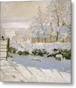 The Magpie Metal Print by Claude Monet