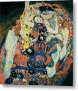 The Maiden Metal Print by Gustav Klimt