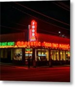 The Majestic Diner Metal Print by Corky Willis Atlanta Photography