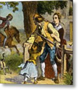 The Midnight Ride Of Paul Revere 1775 Metal Print by Photo Researchers