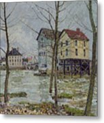 The Mills At Moret Sur Loing Metal Print by Alfred Sisley