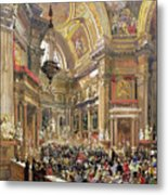 The Miracle Of The Liquefaction Of The Blood Of Saint Januarius Metal Print by Giacinto Gigante