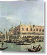 The Molo And The Piazzetta San Marco Metal Print by Canaletto
