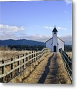 The Morley Church, Alberta, Canada Metal Print by Philippe Widling