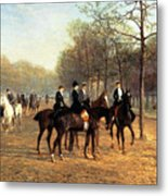 The Morning Ride Rotten Row Hyde Park Metal Print by Heywood Hardy