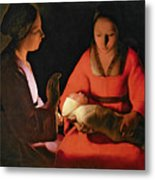 The New Born Child Metal Print by Georges de la Tour