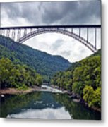 The New River Gorge Bridge In West Virginia Metal Print by Brendan Reals
