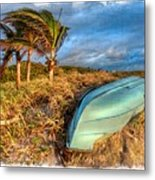 The Old Blue Boat Metal Print by Debra and Dave Vanderlaan