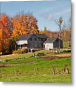 The Old Farm In Autumn Metal Print by Louise Heusinkveld