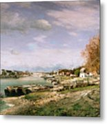 The Old Quay At Bercy Metal Print by Jean Baptiste Armand Guillaumin