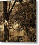 The Old Tire Swing Metal Print by Bill Cannon
