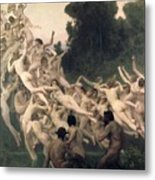 The Oreads Metal Print by William-Adolphe Bouguereau