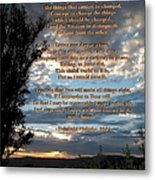 The Original Serenity Prayer Metal Print by Glenn McCarthy Art and Photography