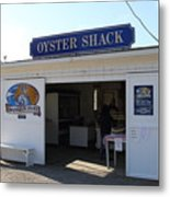 The Oyster Shack At Drakes Bay Oyster Company In Point Reyes California . 7d9832 Metal Print by Wingsdomain Art and Photography