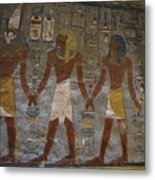 The Painted Walls Inside A Tomb Metal Print by Taylor S. Kennedy