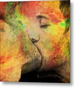 The Passion Of A Kiss 1 Metal Print by Mark Ashkenazi