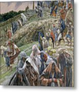 The People Beholding The Things That Were Done Smote Their Breasts Metal Print by Tissot