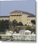 The Philly Art Museum And Waterworks Metal Print by Bill Cannon