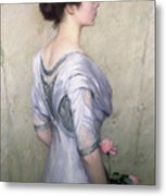 The Pink Rose Metal Print by Lilla Cabot Perry
