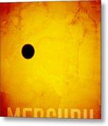 The Planet Mercury Metal Print by Michael Tompsett