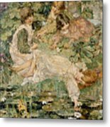 The Pool Metal Print by Edward Atkinson Hornel