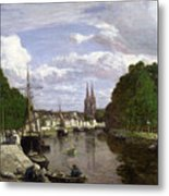 The Port At Quimper Metal Print by Eugene Louis Boudin