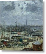 The Port Of Bordeaux Metal Print by Eugene Louis Boudin