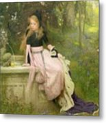 The Princess And The Frog Metal Print by William Robert Symonds