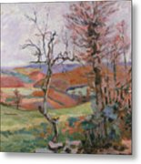 The Puy Barion At Crozant Metal Print by Jean Baptiste Armand Guillaumin