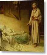 The Raising Of Jairus's Daughter Metal Print by George Percy Jacomb-Hood