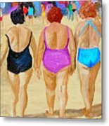 The Real South Beach Metal Print by Michael Lee