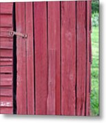 The Red Door Metal Print by Tina B Hamilton