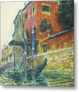 The Red House Metal Print by Claude Monet