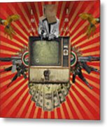 The Revolution Will Not Be Televised Metal Print by Rob Snow