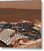 The Rovers Landing Site, The Columbia Metal Print by Stocktrek Images