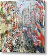 The Rue Montorgueil Metal Print by Claude Monet