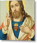 The Sacred Heart Metal Print by French School