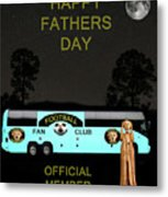 The Scream World Tour Football Tour Bus Fathers Day Metal Print by Eric Kempson