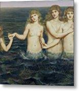 The Sea Maidens Metal Print by Evelyn De Morgan