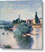 The Seine At Lavacourt Metal Print by Claude Monet
