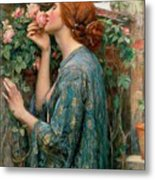 The Soul Of The Rose Metal Print by John William Waterhouse