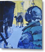 the Sound Man and the Camel Metal Print by Amy Bernays
