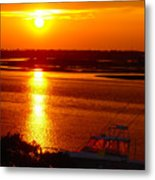 The Sound Of Sunset Metal Print by Laura Brightwood